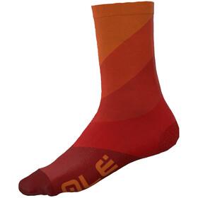 Alé Cycling Diagonal Digitopress Q-Skin Socks 16cm Men, red